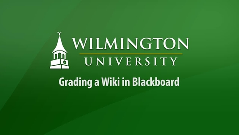 Thumbnail for entry Grading a Wiki