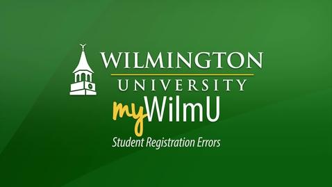 Thumbnail for entry Resolving Registration Errors