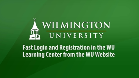 Thumbnail for entry Fast Login and Registration in the WU Learning Center from the WU Website