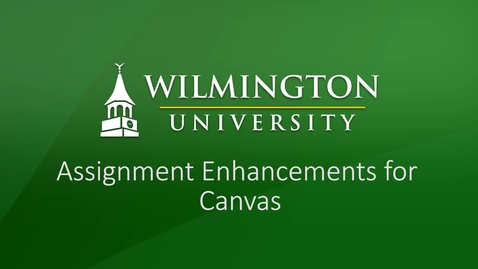 Thumbnail for entry Assignment Enhancements in Canvas