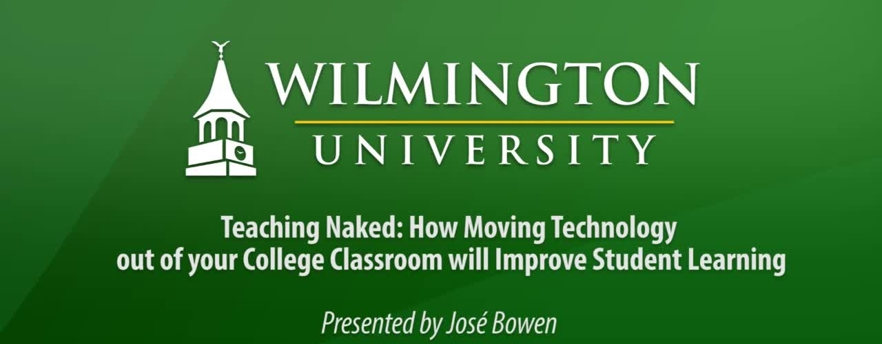 Teaching Naked: How moving technology out of the classroom improves learning Part 1 of 2