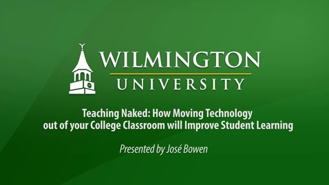 Thumbnail for entry Teaching Naked: How moving technology out of the classroom improves learning Part 1 of 2