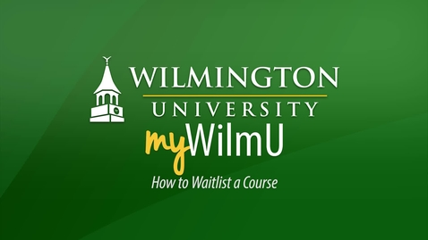Thumbnail for entry How to Waitlist a Course