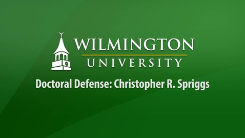 Thumbnail for entry Doctoral Defense: Christopher R. Spriggs