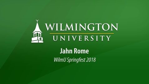 Thumbnail for entry Jahn Rome at WilmU Springfest 2018