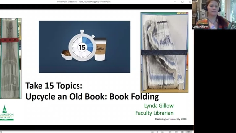 Thumbnail for entry Take 15-Upcycle an old book: Book folding