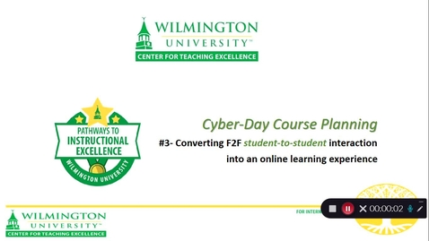 Thumbnail for entry CTE Cyber-Day #3- Student to Student Interaction