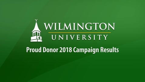 Thumbnail for entry Proud Donor 2018 Campaign Results