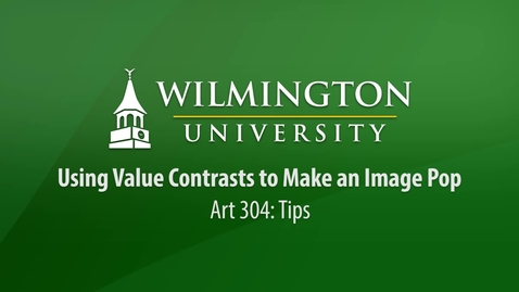Thumbnail for entry ART 304: Tip - Using Value Contrasts to Make Your Painting Look 3D.