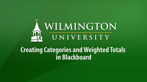 Thumbnail for entry Creating Categories and Weighted Totals