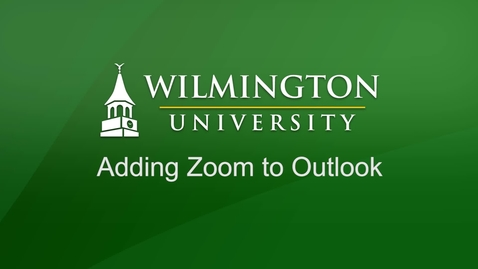 Adding Zoom as an Outlook Plugin