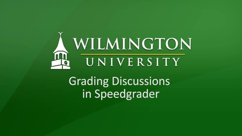 Thumbnail for entry Grading Discussions in Speedgrader