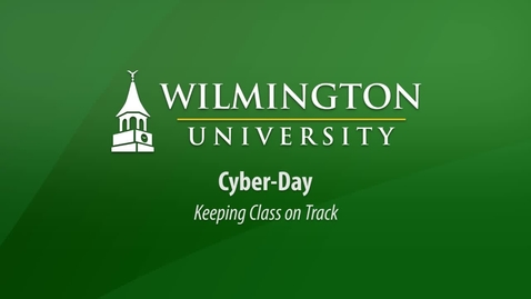 Thumbnail for entry Cyber Day: Keeping Class on Track