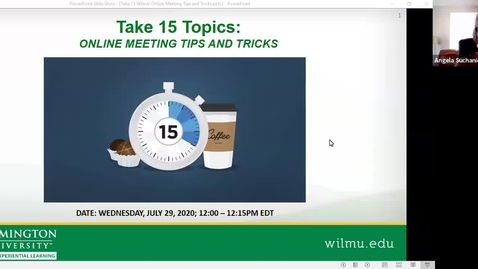 Thumbnail for entry Take 15: Online Meeting Tips and Tricks