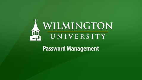 Thumbnail for entry Password Management