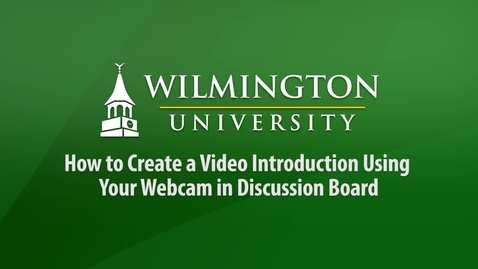 Webcam Tutorial
