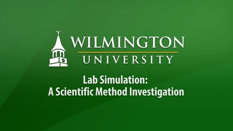 Thumbnail for entry Sci 251 - Lab Simulation - A Scientific Method Investigation