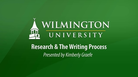 Thumbnail for entry Research & The Writing Process