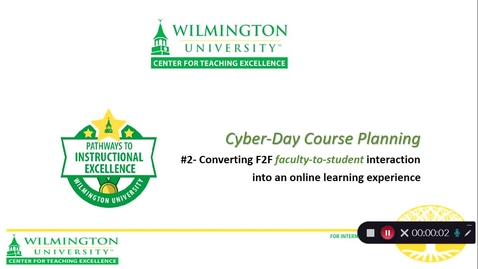 Thumbnail for entry CTE Cyber-Day #2- Faculty-to-Student Interaction
