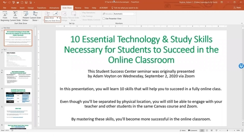 Thumbnail for entry 10 Essential Technology & Study Skills Necessary for Students to Succeed in the Online Classroom