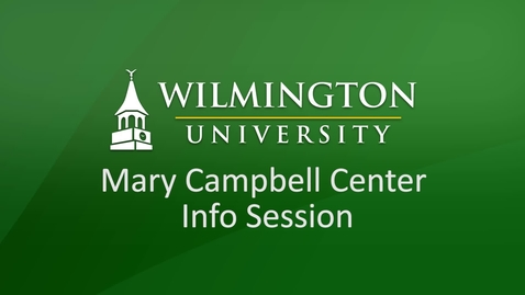 Thumbnail for entry Mary Campbell Center Info Session