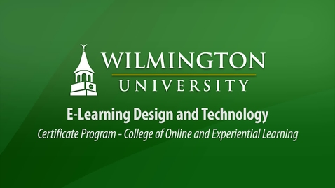 Thumbnail for entry E-Learning Design and Technology Certificate