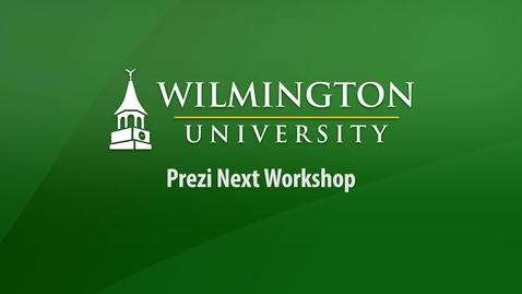 Thumbnail for entry Prezi Next Workshop Archive