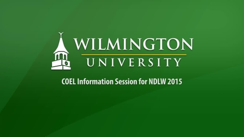 Thumbnail for entry COEL Information Session for NDLW 2015