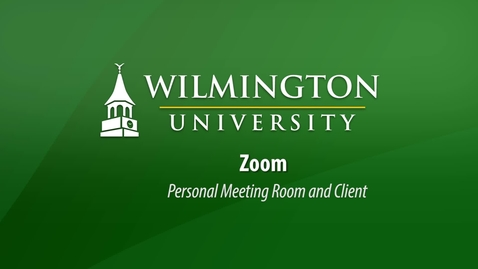 Thumbnail for entry Zoom Personal Meeting Room in Zoom Client