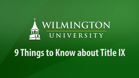 Thumbnail for entry 9 Things to Know about Title IX