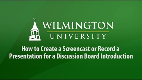 Screencast Tutorial