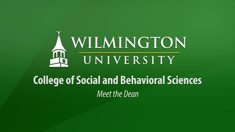 Thumbnail for entry Meet the Dean of the College of Social and Behavioral Sciences