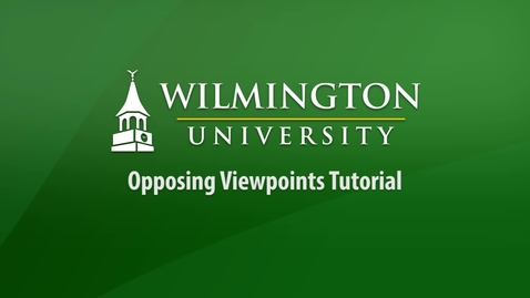 Thumbnail for entry Opposing Viewpoints Tutorial