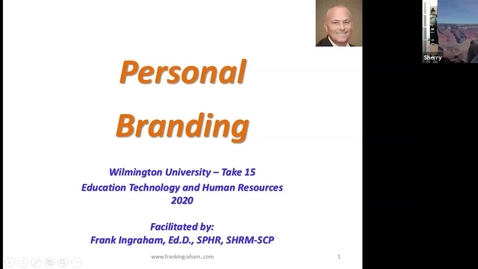 Thumbnail for entry Take 15-Personal Branding with Frank Ingraham
