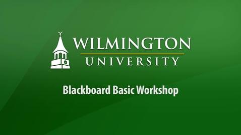 Thumbnail for entry Blackboard Basic Video Workshop