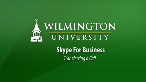 Thumbnail for entry Skype for Business  Transferring Calls