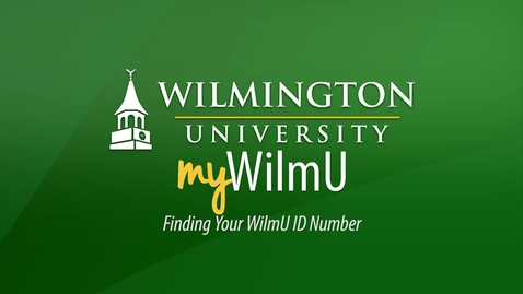 Finding your WilmU ID Number