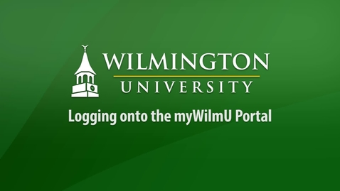 Thumbnail for entry Logging on to the myWilmU portal