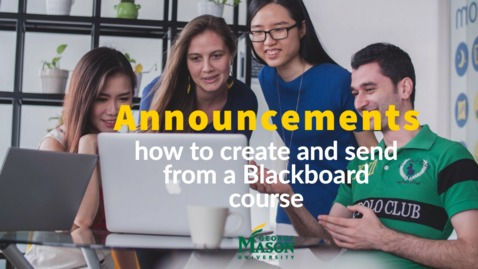 Thumbnail for entry Creating Announcements in Blackboard