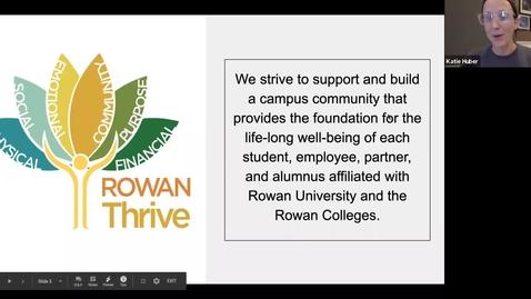 Thumbnail for entry Rowan Thrive - August 2020