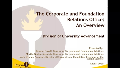 Thumbnail for entry Corporate & Foundation Relations - link to video