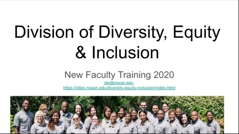 Thumbnail for entry Diversity, Equity, and Inclusion - link to video
