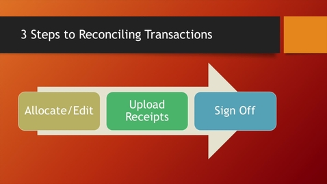 Thumbnail for entry 04 - P Card - Reconciling Transactions