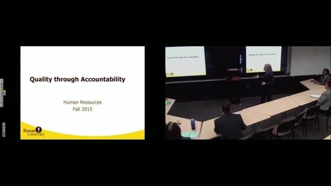 Thumbnail for entry Quality Through Accountability