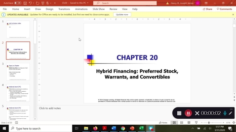 Thumbnail for entry FinMgmt2: Ch. 20 hybrid financing