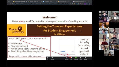 Thumbnail for entry 1/21/2021 Remote Teaching Series - Workshop 1: Setting the Tone and Expectations for Student Engagement