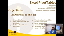 Thumbnail for entry Excel Pivot Tables