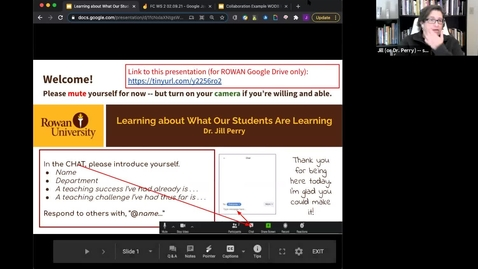 Thumbnail for entry 02/9/2021 Remote Teaching Series - Workshop 2: Learning about What Our Students Are Learning