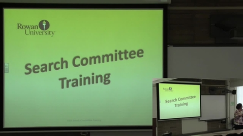 Thumbnail for entry Search Committee Training