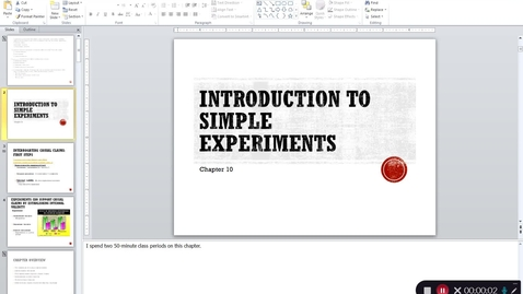 Thumbnail for entry Chapter 10 - Simple Experiments Lecture